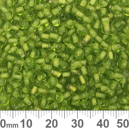 Green 3mm Round Glass Beads
