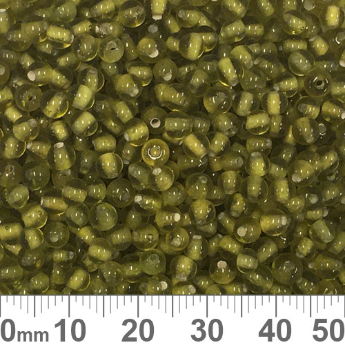 Olive Green 3mm Round Glass Beads