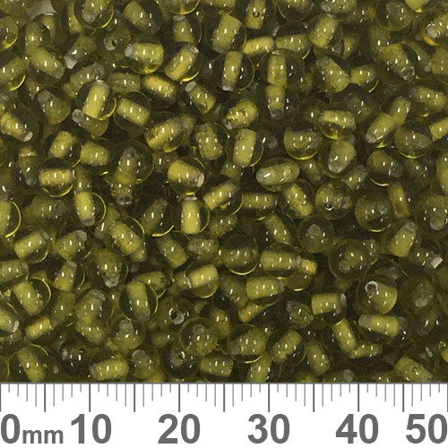 Olive Green 4mm Round Glass Beads