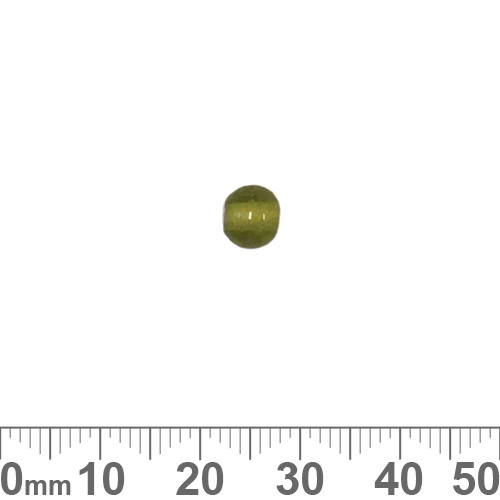Olive Green 6mm Round Glass Beads