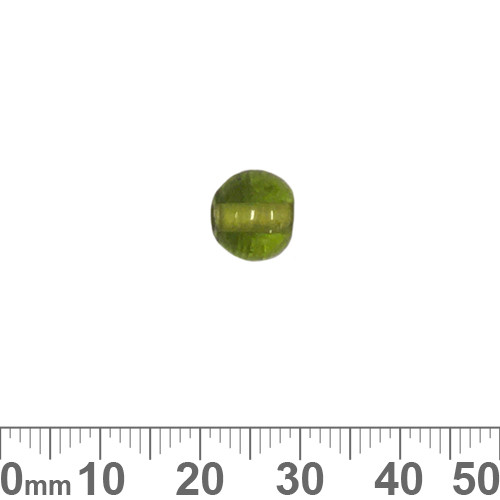 Olive Green 9mm Round Glass Beads