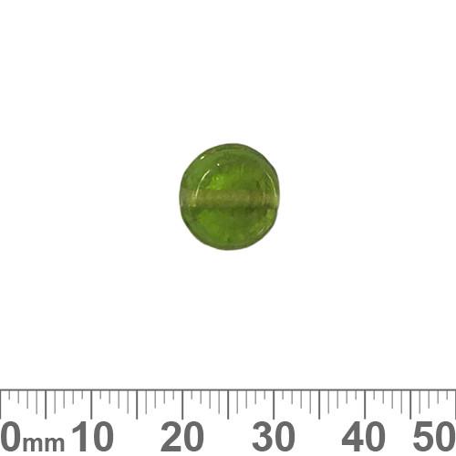 Green 10mm Flat Disc Glass Beads