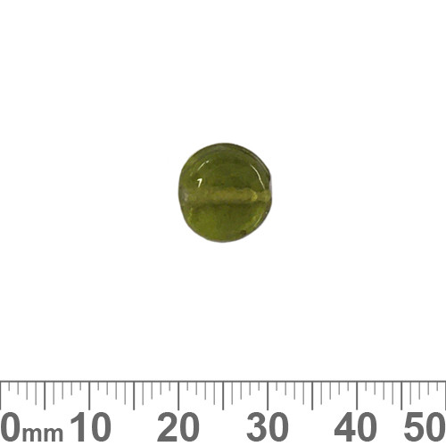 Olive Green 11mm Flat Disc Glass Beads