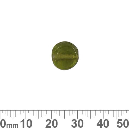 Olive Green 11mm Flat Disc Glass Beads
