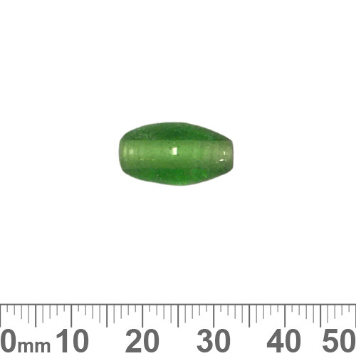 Peppermint Green 16mm Oval Glass Beads