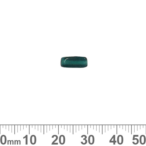 Dark Teal 10mm Rectangular Tube Glass Beads
