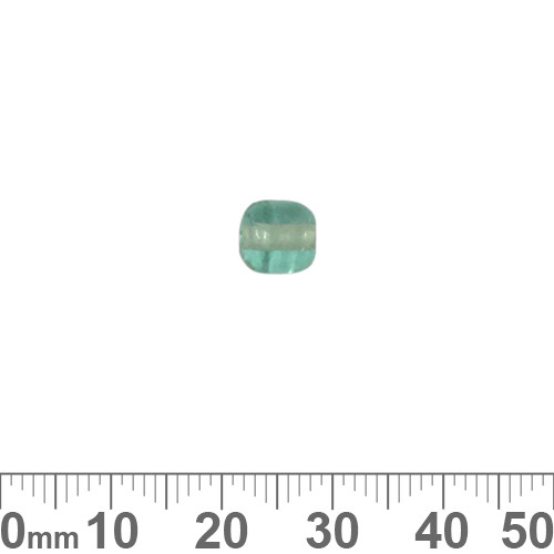 Light Teal 7mm Rounded Tube Glass Beads