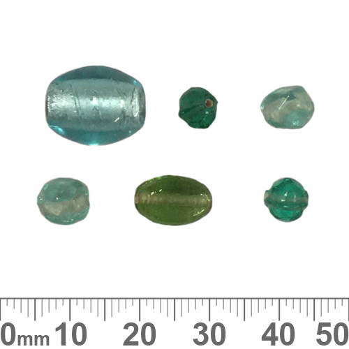 Teal Glass Bead Mix
