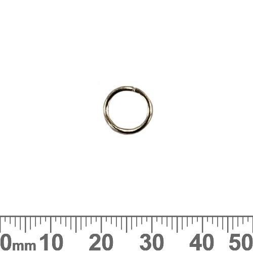 10.4mm x 1.35mm Dark Silver Jump Rings
