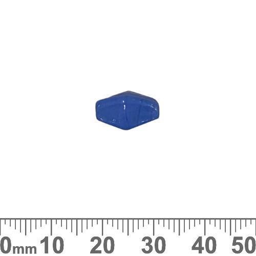Opaque Light Blue 12mm Diamond Glass Beads