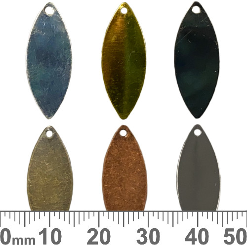 25mm Marquise Flat Blank Stamping Tags