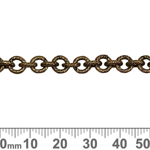 Bronze 6.5mm Heavy Round Brushed Chain