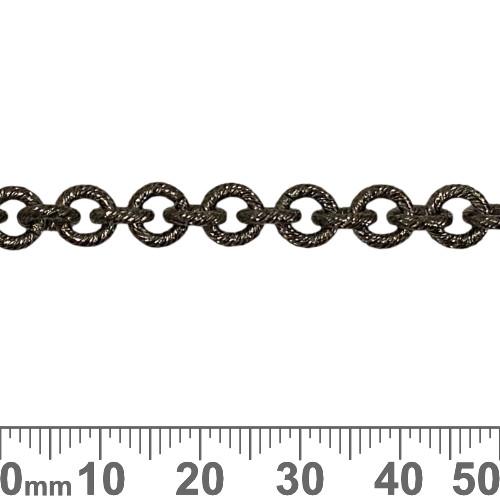 Black 6.5mm Heavy Round Brushed Chain