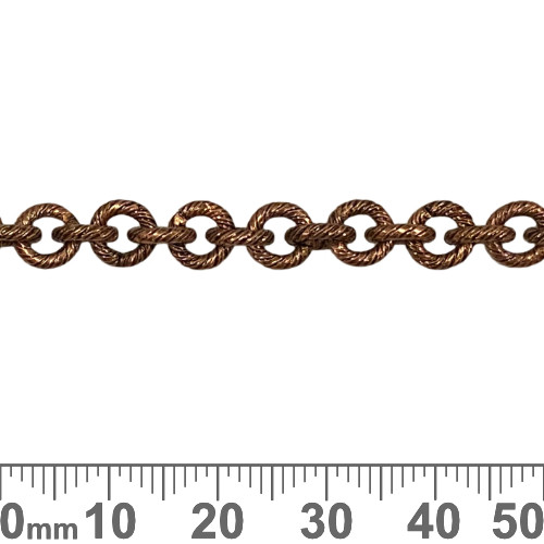 Copper 6.5mm Heavy Round Brushed Chain