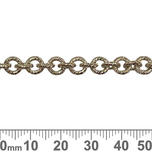 Dark Silver 6.5mm Heavy Round Brushed Chain