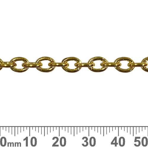 Bright Gold 7.3mm Medium Heavy Oval Loop Chain