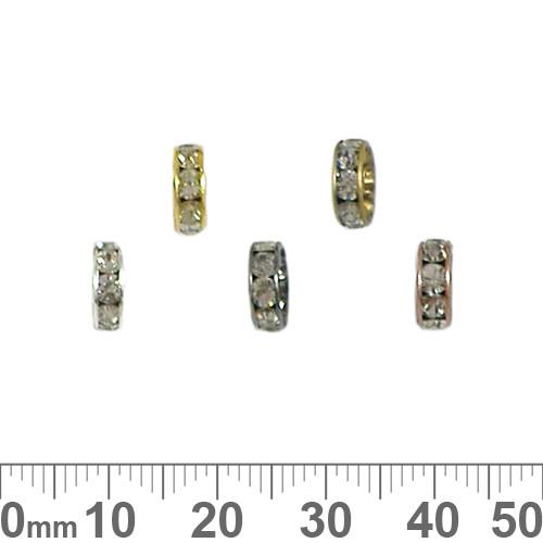 8mm Rondelle Diamante Spacers