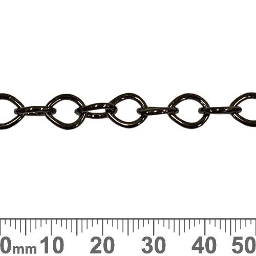 Black 8.5mm Tear Drop Loop Chain