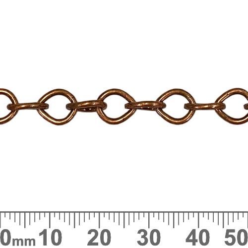 Copper 8.5mm Tear Drop Loop Chain