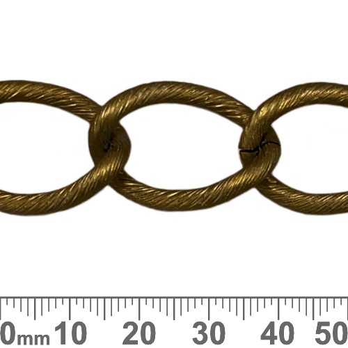 Bronze 28mm Extra Large Twisted Loop Chain