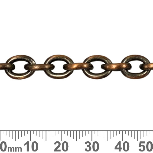 Copper 9.5mm Large Heavy Loop Chain