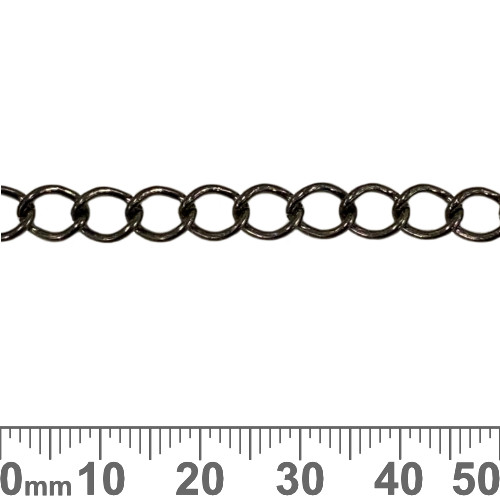 Black 7.5mm Medium Twisted Loop Chain