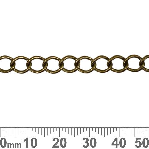 Bronze 7.5mm Medium Twisted Loop Chain