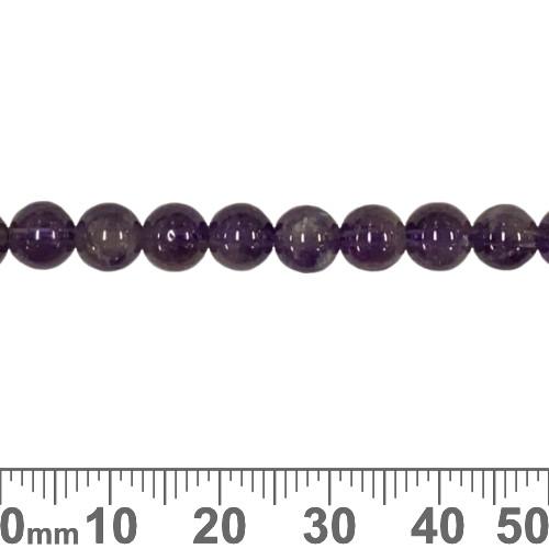 Amethyst 6mm Round Beads (17.5cm)