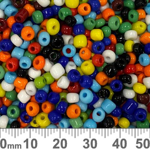 6/0 Opaque Rainbow Seed Beads