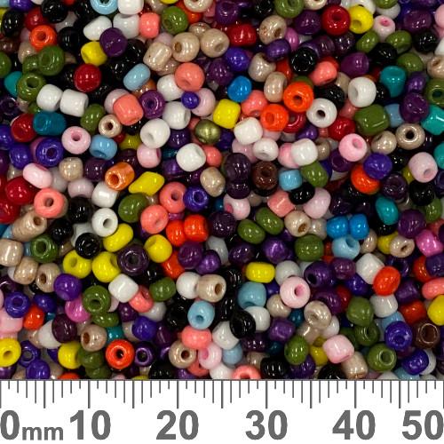 8/0 Opaque Rainbow Seed Beads