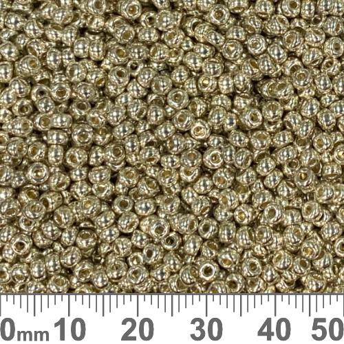 8/0 Galvanised Silver Japanese Seed Beads