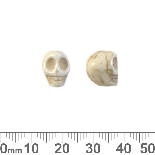 Cream Howlite 12mm Skull Beads