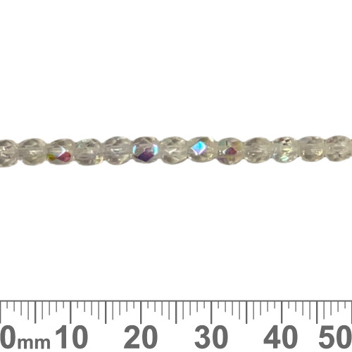 Crystal AB 4mm Round Fire Polished Glass Beads