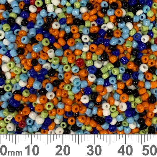 11/0 Opaque Rainbow Seed Beads