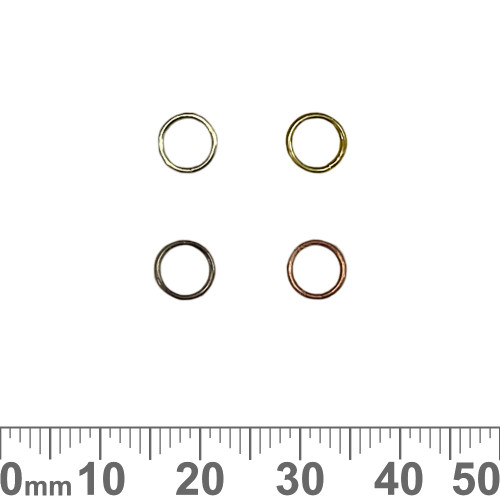 CLEARANCE 6mm Double/Split Jump Rings
