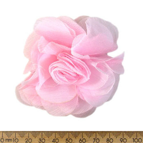 70mm Pale Pink Fabric Flower