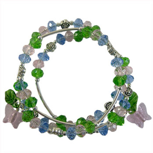 Spring Butterfly Memory Wire Bracelet Kit