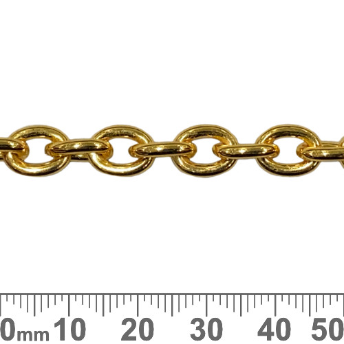 Bright Gold 9.5mm Large Heavy Loop Chain