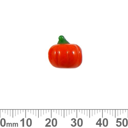 Orange Pumpkin Glass Bead