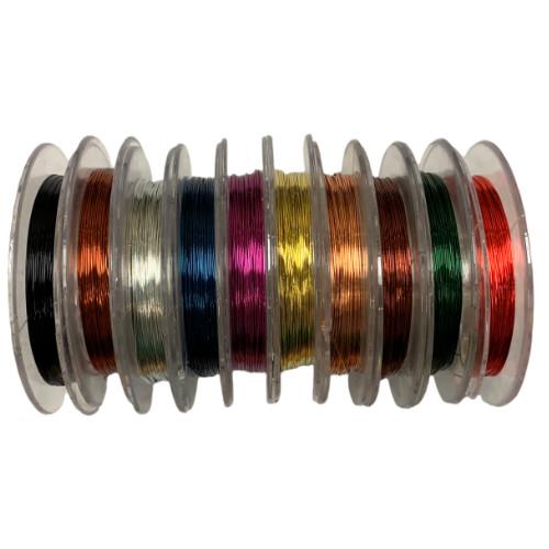 28 gauge Mixed BULK Beading Wire - 100m
