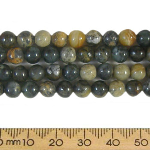 Forest Fancy Jasper 6mm Round Beads