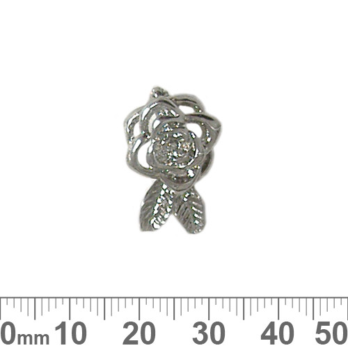 Large Rose Clip On Magnetic Bail