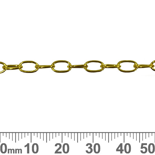 6.6mm Thin Long Loop Chain - Bright Gold