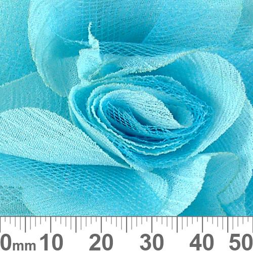 70mm Pale Aqua Fabric Flower