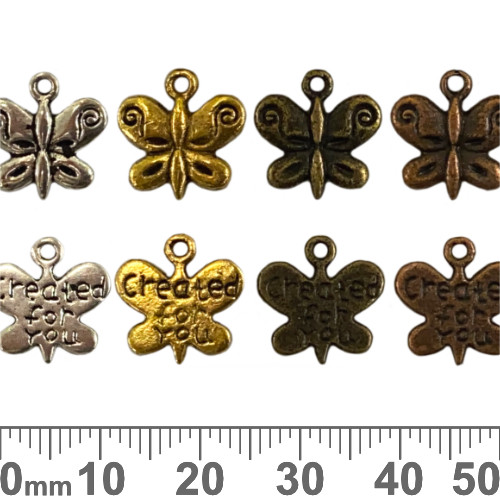 Created For You Butterfly Metal Charms