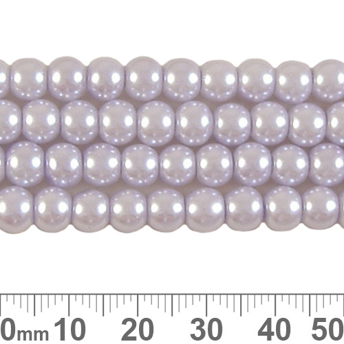 4mm Ice Lavender Glass Pearl Strands