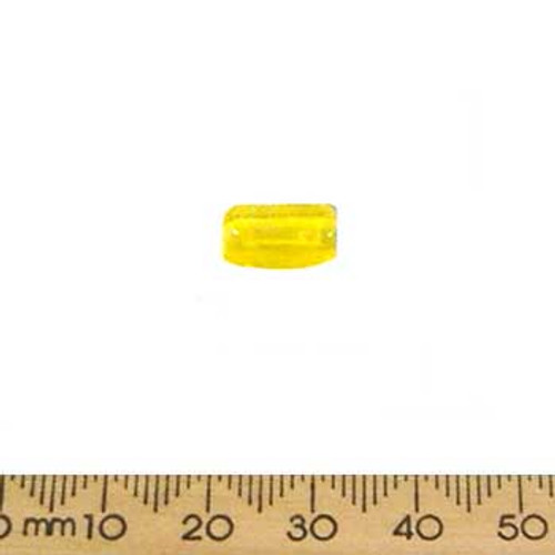 Yellow Small Rectangular Tube Beads