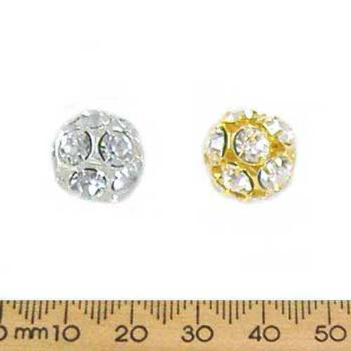 14mm Sparkly Diamante Metal Ball