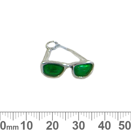 CLEARANCE Green Sunglasses Enamel Metal Charm
