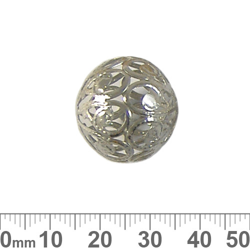 20mm Lightweight Filigree Round Metal Beads